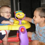Laughing with Reilly 1 week after diagnosis of MIOP